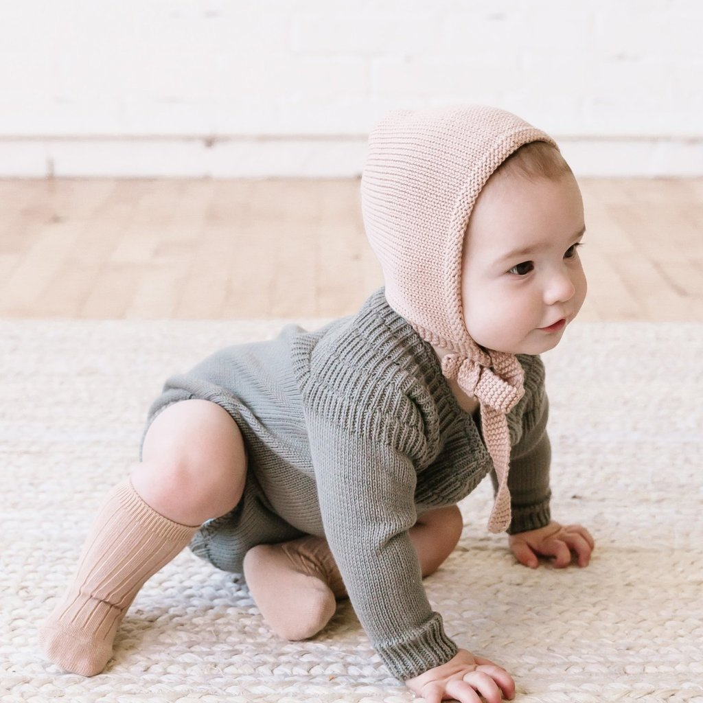 Quincy Mae  Knit Bonnet