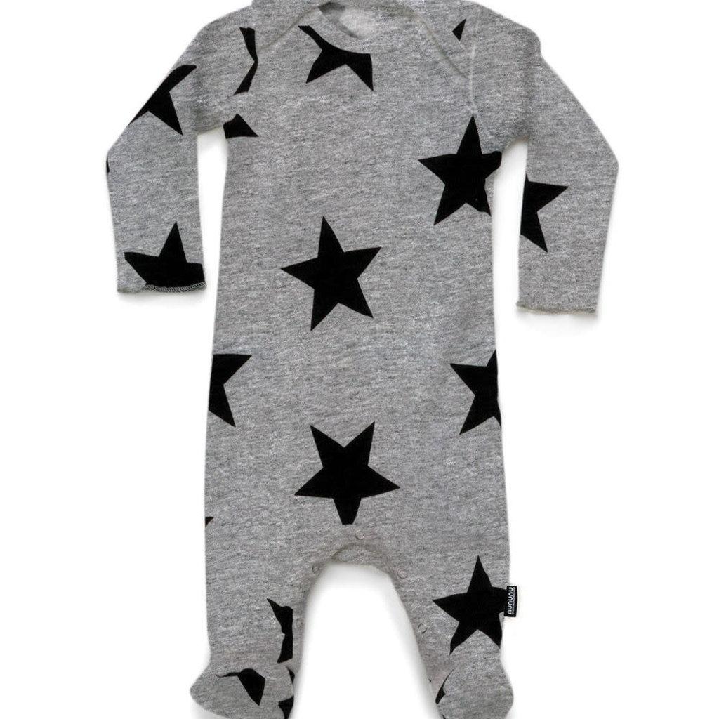 nununubaby Star footed overall