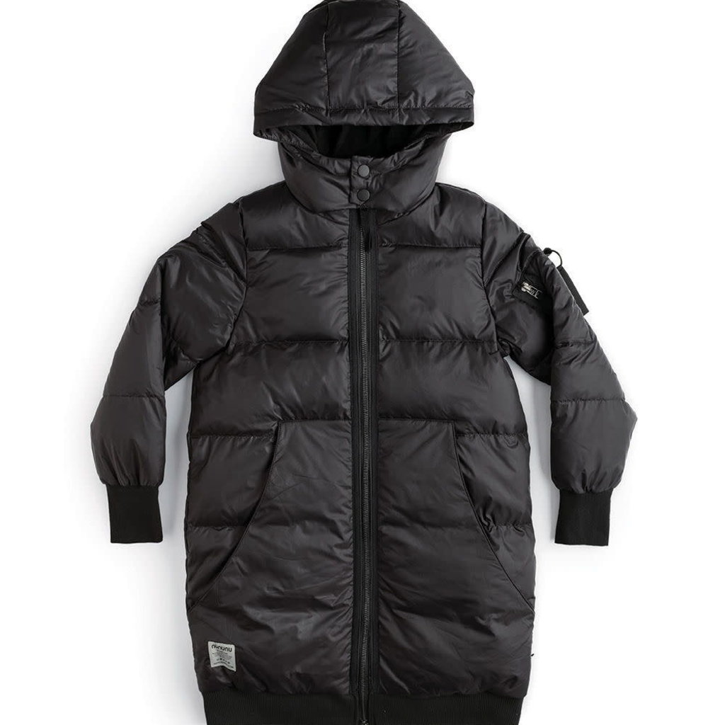 nununubaby Zip hoodie down coat