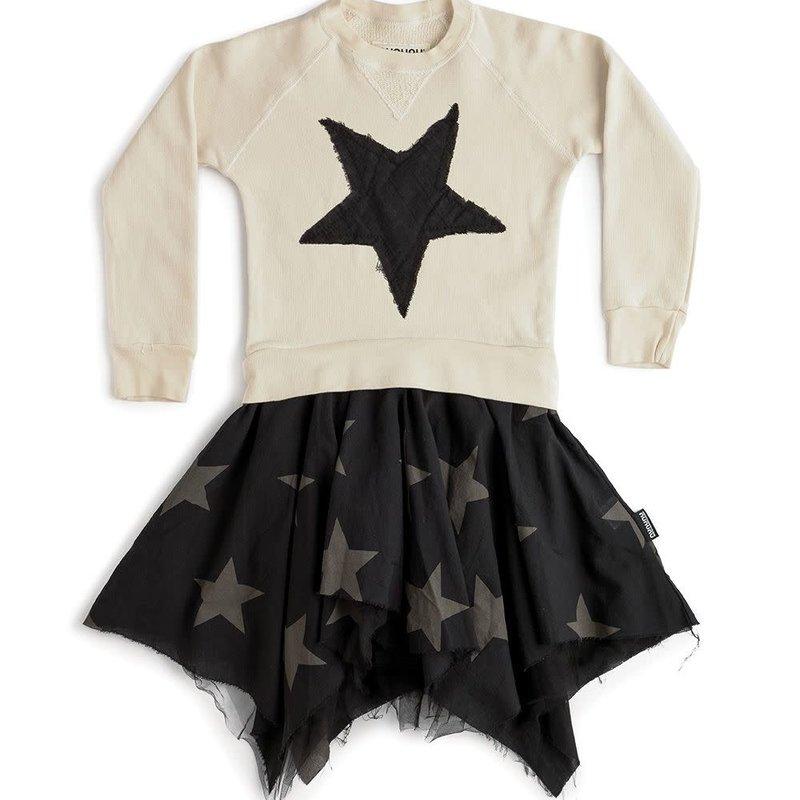 nununubaby falling star flowy dress