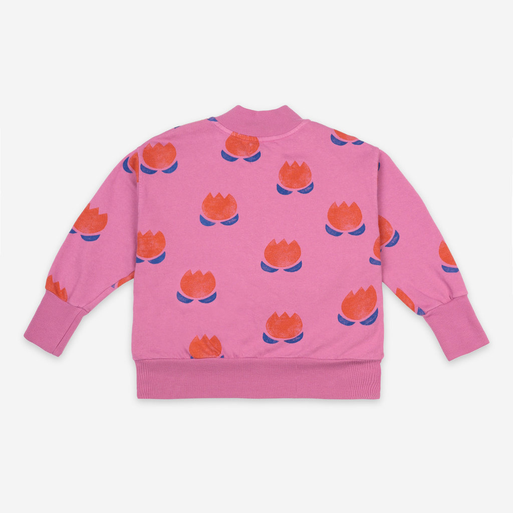 bobo choses Chocolate Flower Zipped sweatshirt