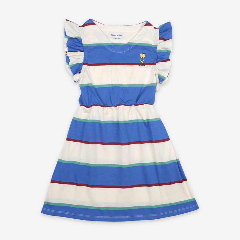 bobo choses Stripes Jersey Ruffle Dress