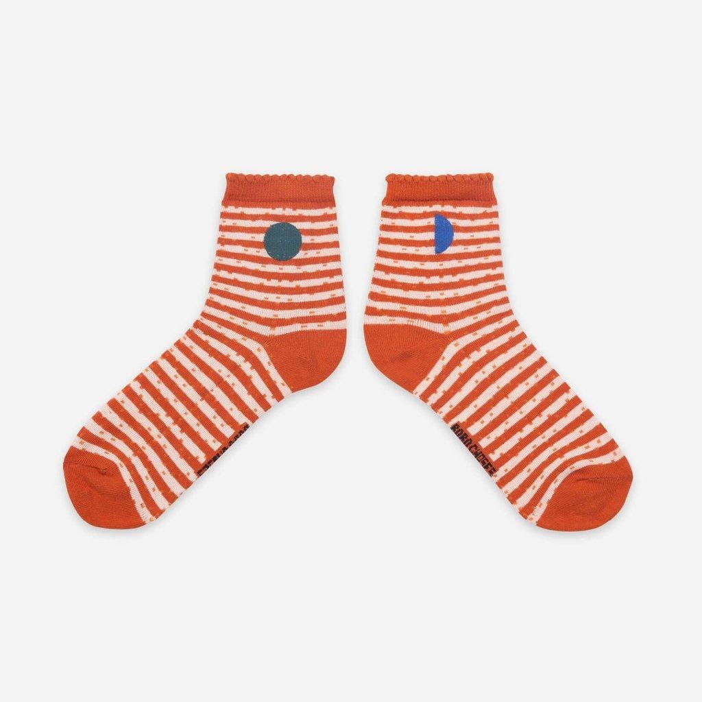 bobo choses Orange Stripes Socks