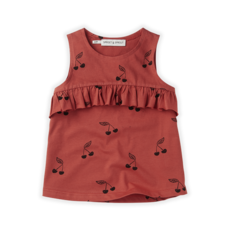 Sproet & Sprout Cherry Ruffle Top