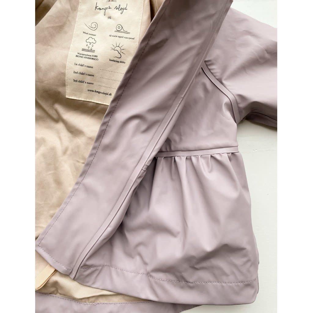 konges Sløjd Palme rainwear set girl solid - Lavender Mist