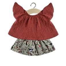 minikane Minikane Red top and skirt set