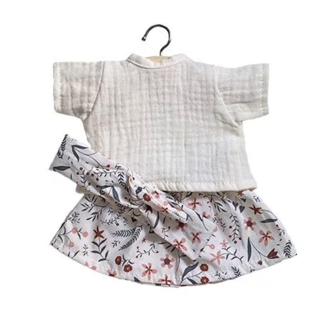 minikane Minikane White top and skirt set
