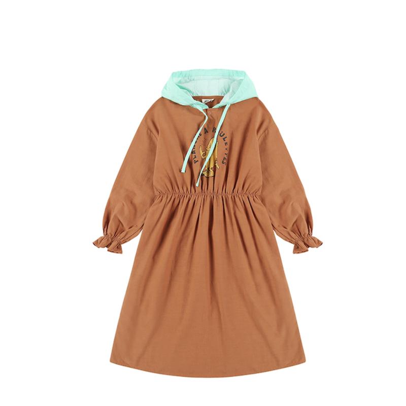 Jelly Mallow Board Hoodie Dress