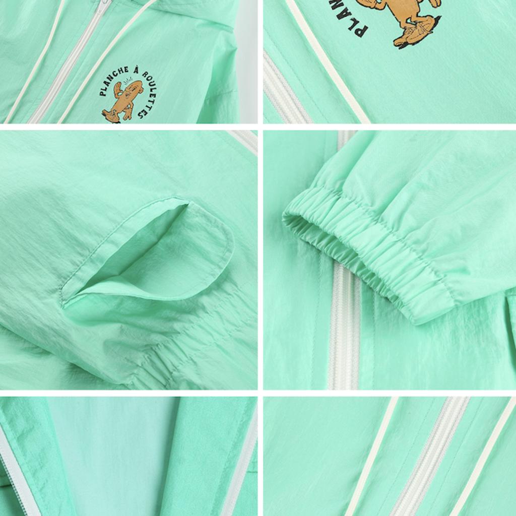 Jelly Mallow Board Hoodie Rain Coat
