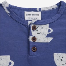 bobo choses  Cup Of Tea All Over buttoned T-shirt