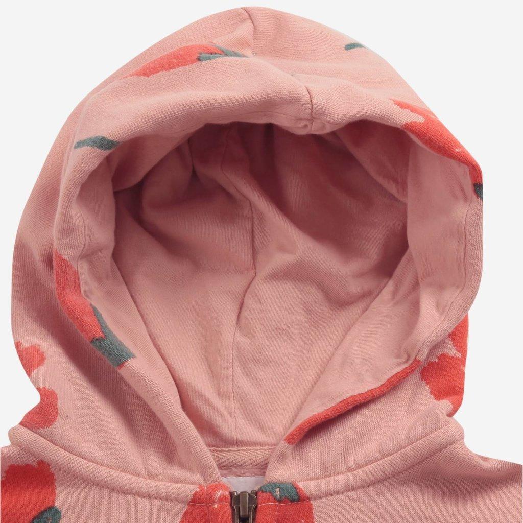 bobo choses Big Flowers all over zipped hoodie
