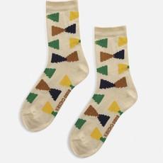 bobo choses  Ecru Geometric short socks