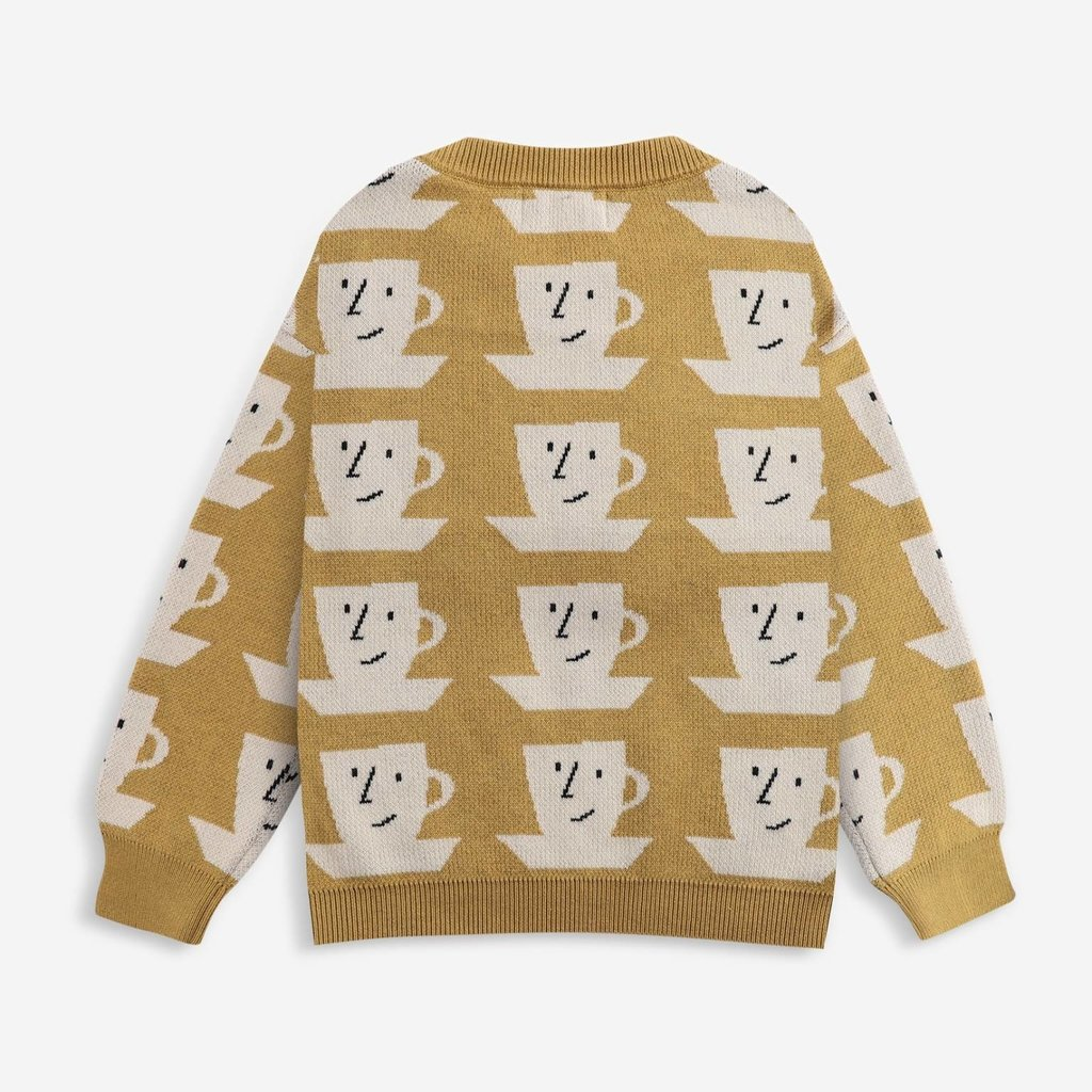 bobo choses Cup Of Tea All Over knitted jumper