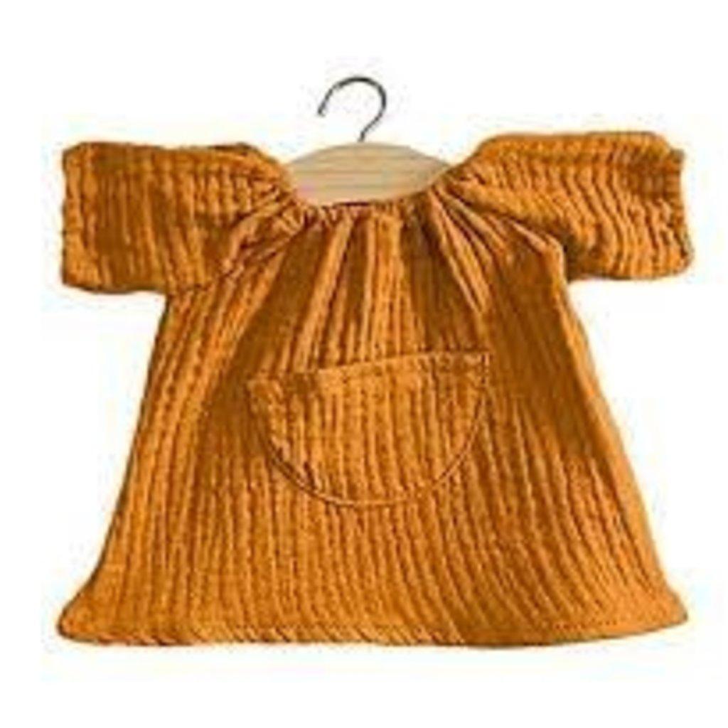minikane Jeanne dress gauze cotton, Camel