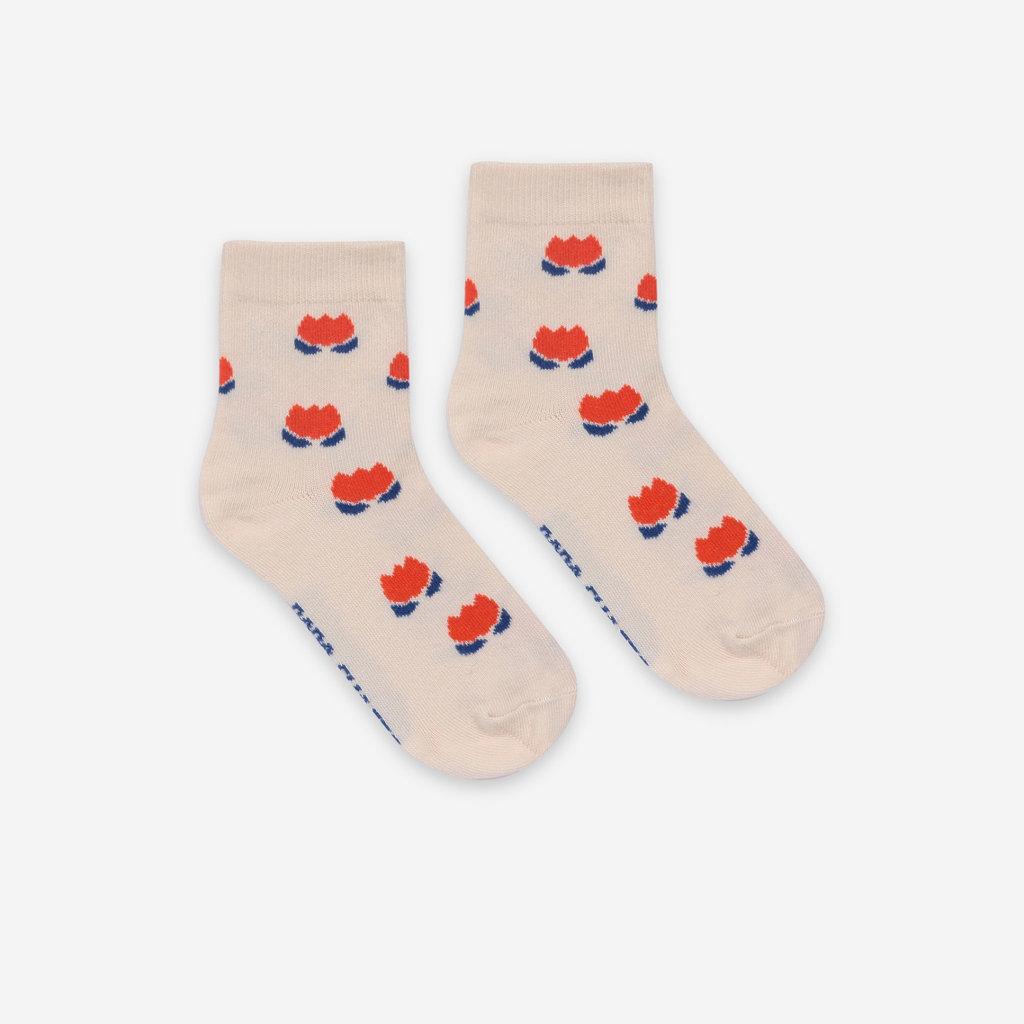 bobo choses  Red Chocolate Flowers Short Socks