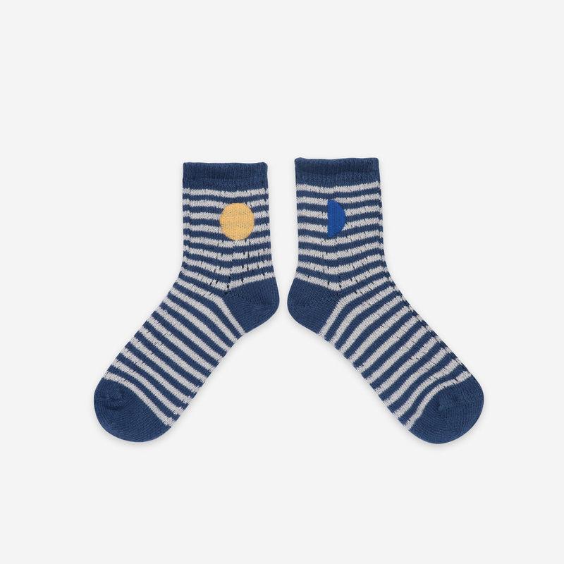 bobo choses Blue Stripes Short Socks