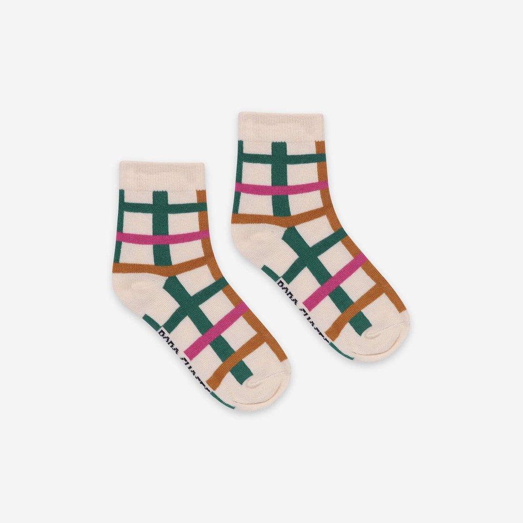 bobo choses Green Checkered Short Socks
