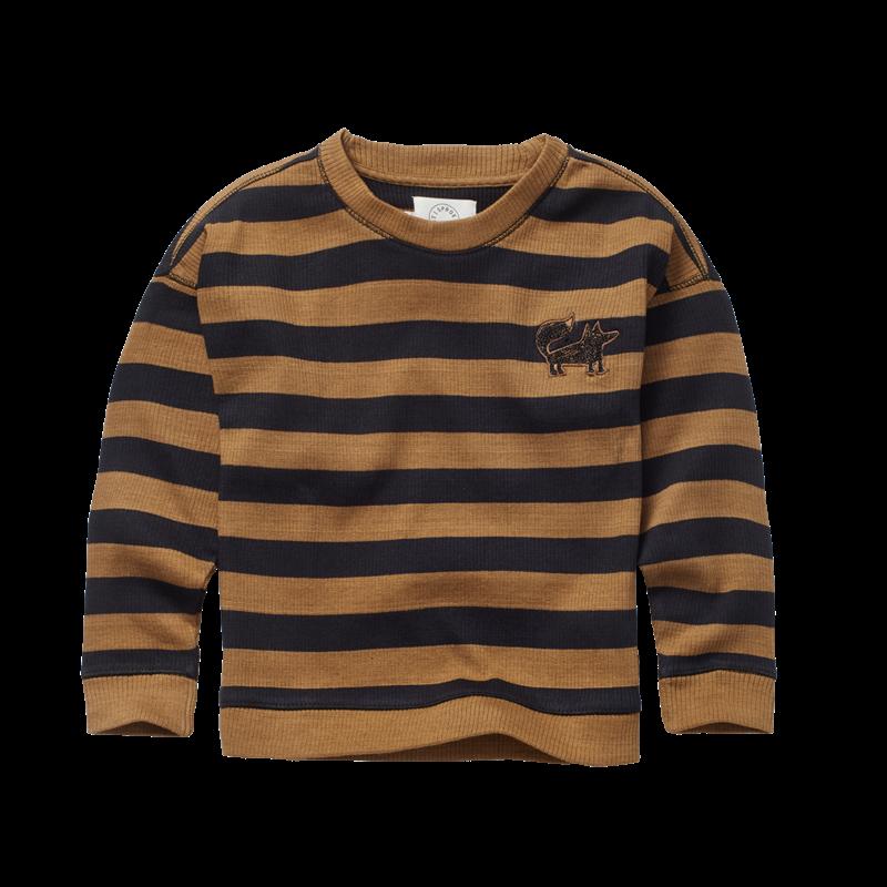 Sproet & Sprout Kids Waffle Sweatshirt Stripe