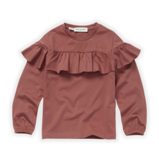 Sproet & Sprout Kids T-Shirt Ruffle Fig