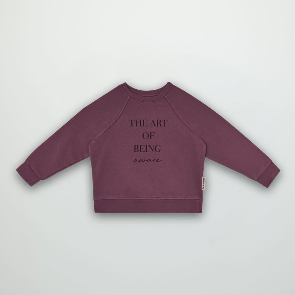 The new society The art of sweater plum