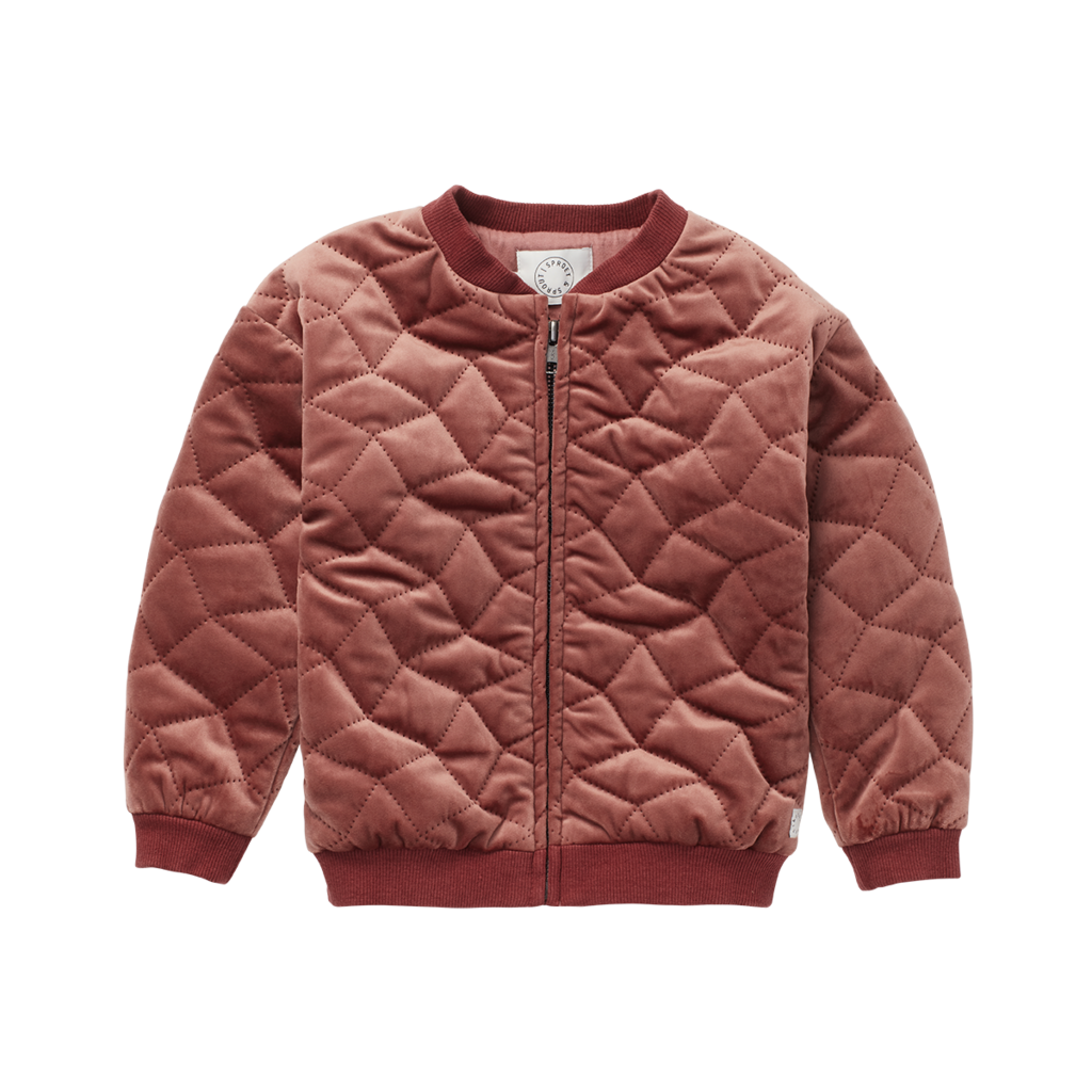 Sproet & Sprout Velvet Quilted Jacket