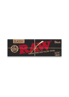 RAW Black 1 1/4 Rolling Papers