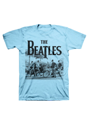 The Beatles - Bicycle Blue T-Shirt