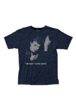David Bowie Heroes Fitted Heather Navy T-Shirt