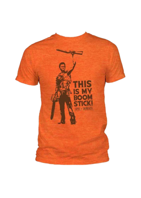 Army of Darkness - This Is My Boomstick! Heather Orange Fitted T-Shirt