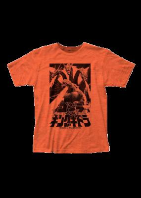 Godzilla Fire Breathing Heather Orange Fitted T-Shirt
