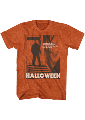 Halloween - Stairs Heather Orange T-Shirt