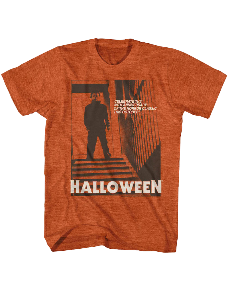 Halloween - Stairs Heather Orange T-Shirt