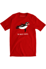 The White Stripes - Red Tour Penguin Fitted T-Shirt