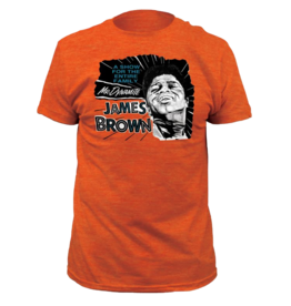 James Brown - Mr. Dynamite Heather Orange Fitted T-Shirt