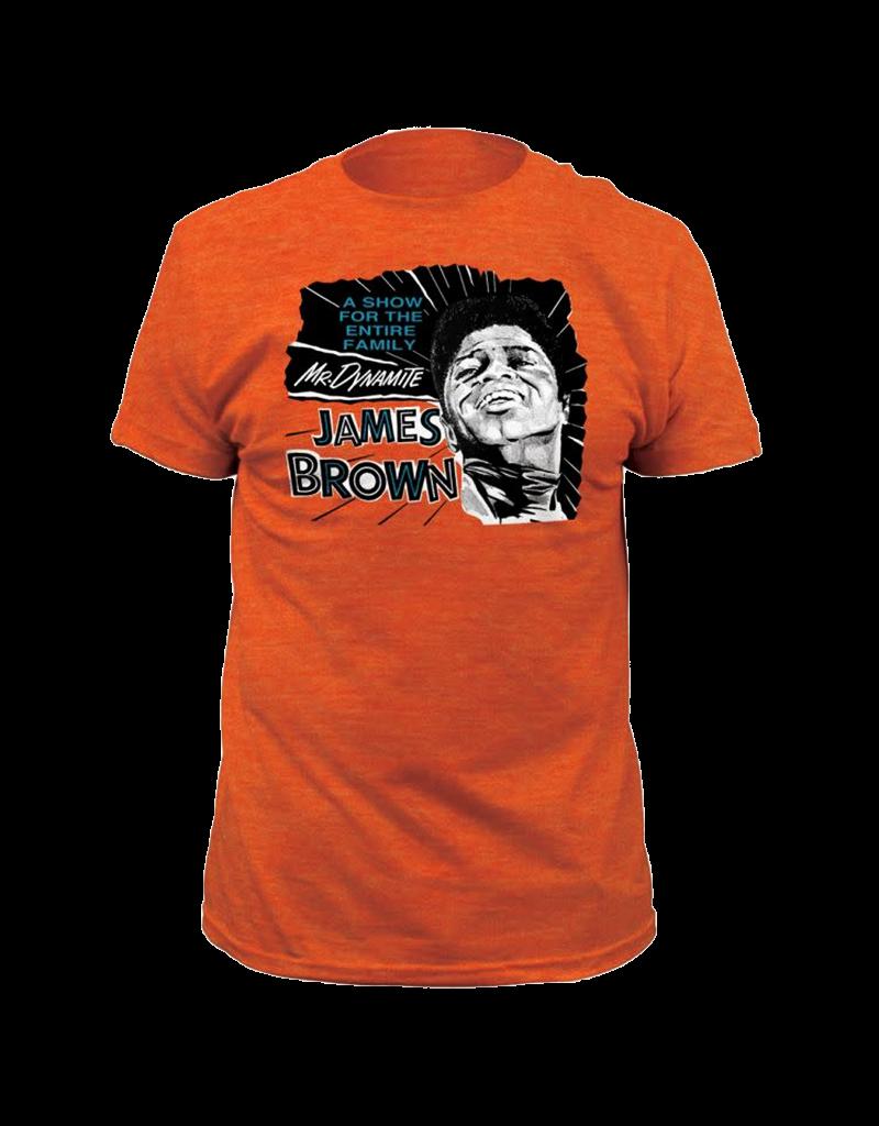 James Brown - Mr. Dynamite Heather Orange Fitted T-Shirt