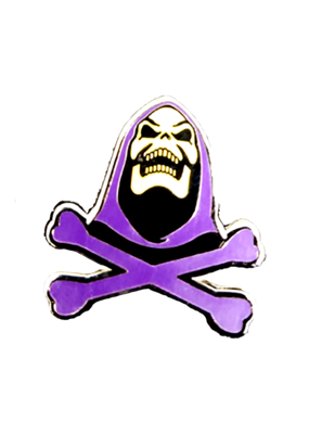 Skeletor Jolly Roger Hat Pin / Lapel Pin