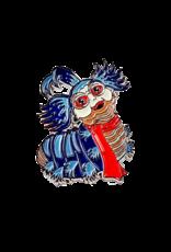 Labyrinth Worm Pin (Silver) Hat Pin / Lapel Pin
