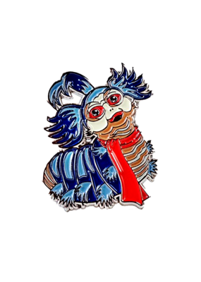Labyrinth Worm Pin (Silver) Hat Pin / Lapel Pin