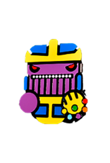 Cute Infinity Wars Thanos Face Hat Pin / Lapel Pin