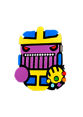 Cute Infinity Wars Thanos Face Hat Pin / Lapel Pin