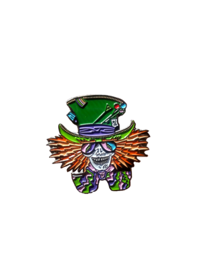 Mad Hatter Skeleton Hat Pin / Lapel Pin