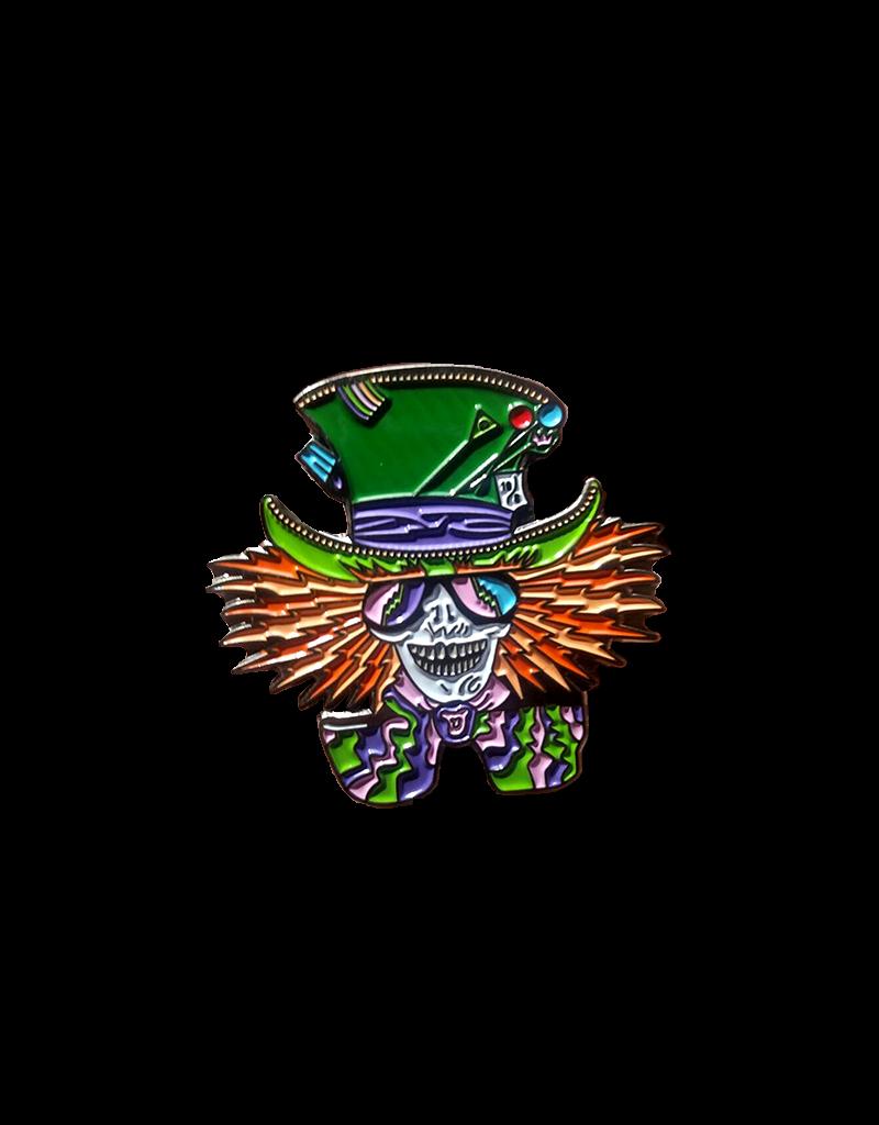 Mad Hatter Skeleton Hat Pin / Lapel Pin