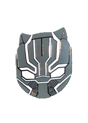 Black Panther Face Hat Pin / Lapel Pin