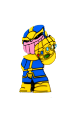 Infinity Wars Thanos Standing Fist Hat Pin / Lapel Pin