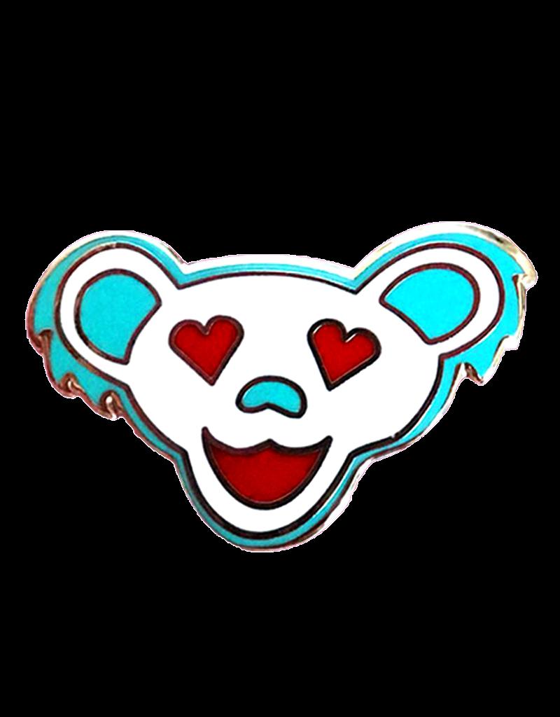 Love Bear Enamel Pin White Hat Pin / Lapel Pin