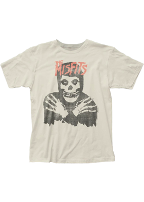 Misfits - Classic Skull Distressed Vintage White Fitted T-Shirt