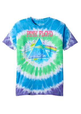 Pink Floyd - Dark Side Oil Paint Tie Dye T-Shirt