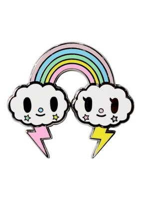 Tokidoki Pastel Pop Rainbow Hat Pin / Lapel Pin