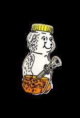 Honey Bear Water pipe Hat Pin / Lapel Pin