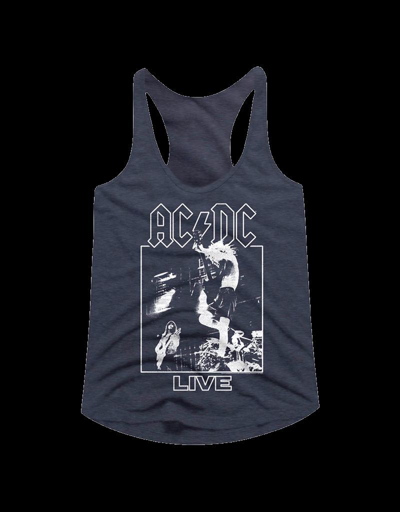 AC/DC - Live Heather Navy Women's Racerback Tank Top